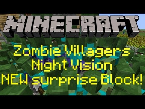 Minecraft Snapshot 12w32a -  Baby Zombie Villagers, NEW surprise Block, Night Vision and MORE!