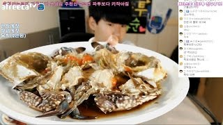 getlinkyoutube.com-중3BJ파투 스폐셜먹방!! 간장/양념게장&물회 먹방!! Eating Show
