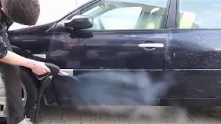 Optima DMF czyści zabłocony samochód