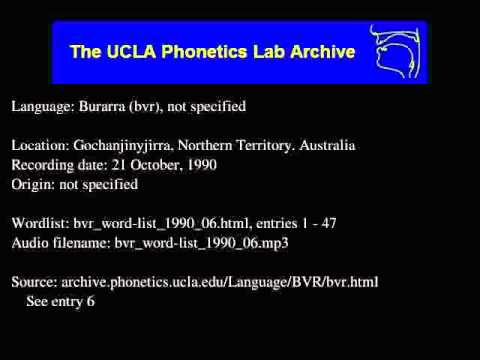 Burarra audio: bvr_word-list_1990_06
