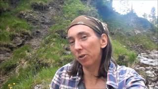 getlinkyoutube.com-Silnylon & Loden - Bushcraft Girl's alpine overnighter with beltpack & bedroll in a whole new ARENA