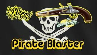 getlinkyoutube.com-Nerf Style Buzz Bee Pirate Flintlock Pistol Review