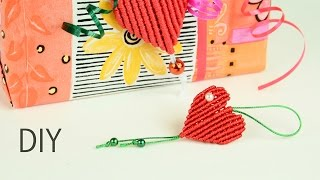 getlinkyoutube.com-Gift from Heart - Easy Macrame Tutorial