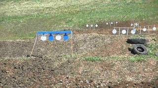 getlinkyoutube.com-Steel Plates with a S&W 617 Revolver offhand at 100 yards