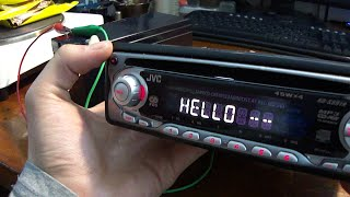 getlinkyoutube.com-How to connect car radio at home (directly to the battery)
