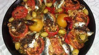 getlinkyoutube.com-أحلى وألذ صينية سمك سردين في الفرن