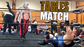 getlinkyoutube.com-MONSTERS DESTROY YOUTUBERS IN CHAMPIONSHIP TABLES MATCH AT SWF INDY WRESTLING SHOW!
