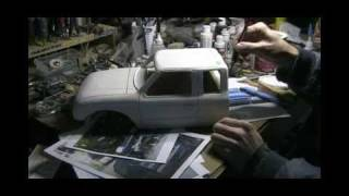 getlinkyoutube.com-Headquake's RC - #38 (carving a scale truck body from wood)
