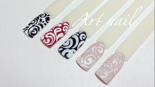 getlinkyoutube.com-Самые Простые Завитки (Вензеля) На Ногтях! Дизайн Ногтей с Вензелями!
