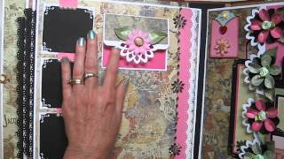 getlinkyoutube.com-Handmade  Large (not mini) 11x11 Scrapbook Album (Tutorial Available)
