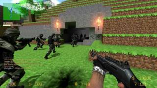 getlinkyoutube.com-Counter-Strike Source: Zombie Escape - ZE_MINECRAFT_V1_1 + 2 Funny fails [15Min] (1080p)