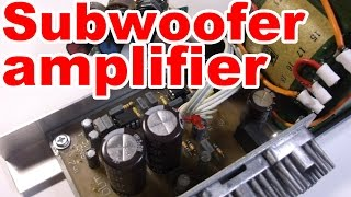 getlinkyoutube.com-How to make home subwoofer amplifier