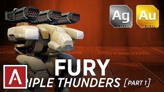 getlinkyoutube.com-Walking War Robots Fury Gameplay: Triple Thunders (part 1)