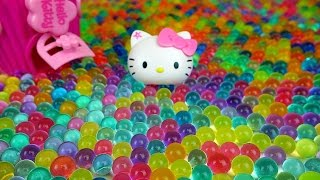 getlinkyoutube.com-Orbeez Hello Kitty & Kinder Joy Surprise egg, dispenser toys with Baby Doll