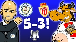 getlinkyoutube.com-🔥5-3🔥 Man City vs Monaco - Champions League 2017 Last 16 1st Leg(ALL GOALS and HIGHLIGHTS -parody)
