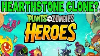 getlinkyoutube.com-Plants vs. Zombies: HEROES. Gameplay, basics. More than Hearthstone clone?