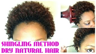 getlinkyoutube.com-NO WASH! Define & Go on SHORT NATURAL HAIR | SHINGLING on DRY NATURAL HAIR |  | The Curly Closet