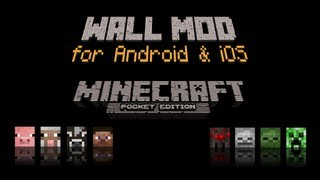 getlinkyoutube.com-Minecraft Pocket Edition - Mods - Wall Mod