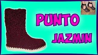 getlinkyoutube.com-PUNTO JAZMIN PARA BOTAS - CROCHET - IRINA ASCENCIO