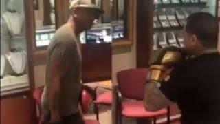 getlinkyoutube.com-Jin Gates Throws Hands With Gillie Da Kid In Rolex Store