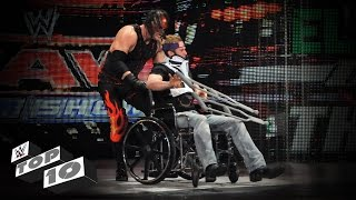 getlinkyoutube.com-Injured Superstars Getting Crushed: WWE Top 10