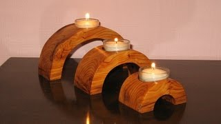 getlinkyoutube.com-Arch Bridge Candle Holder - Woodworking // How-To