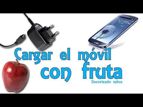 Cargar el móvil o celular con fruta - Desvelando mitos (Experimentos Caseros)