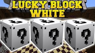 Minecraft: WHITE LUCKY BLOCK MOD (EVIL VILLAGERS, BLAZE APOCALYPSE, & GIANT ARMY) Mod Showcase