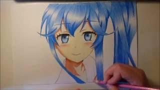 getlinkyoutube.com-Erio Touwa - Speed Drawing - Denpa Onna to Seishun Otoko
