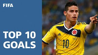 TOP 10 GOALS: 2014 FIFA World Cup Brazil™ [OFFICIAL] width=