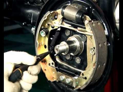 Замена задних тормозных колодок Chery A13