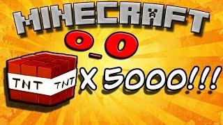 getlinkyoutube.com-Что будет если взорвать 5000 ТНТ в майнкрафт?! 10 TNT x500  в Minecraft! Впервые 1080p!
