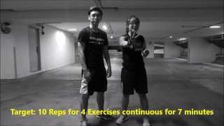 10-7-5 Fitness Workout (7 minutes #03 Full Body Workout;Very Intense)