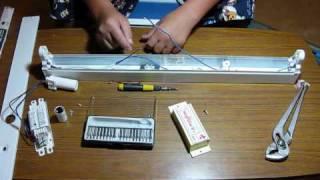 getlinkyoutube.com-Converting A Fluorescent Light To 12v DC! (Solar Panel System)