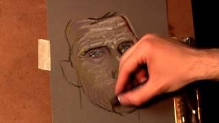 getlinkyoutube.com-Portrait Expression - Oil Pastels