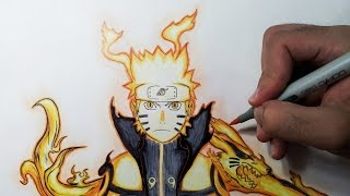 getlinkyoutube.com-Drawing Naruto Bijuu mode