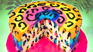 getlinkyoutube.com-Rainbow Leopard Cake from Cookies Cupcakes and Cardio