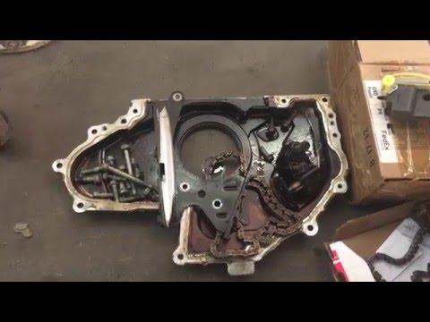 Замена цепей привода балансировочных валов на Hummer H3