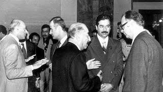 getlinkyoutube.com-الرئيس الراحل صدام حسين في قاعة الخلد ١٩٧٩ يقتل خونة العراق .. فلم نادر جداً