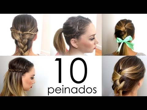 10 peinados fáciles y rápidos para cabello corto o largo!