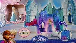 getlinkyoutube.com-Disney Frozen Palacio Luces Mágicas de Elsa Magical Lights Palace Playset - Juguetes de Frozen