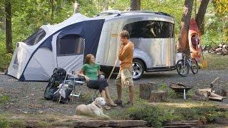 getlinkyoutube.com-Walk Through 2007 Airstream Basecamp 16' Toy Hauler Bambi Size Camper RV Trailer