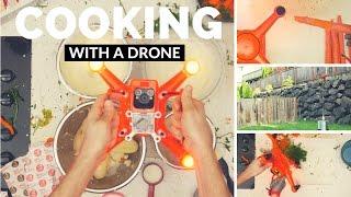 WIE kann man ein Abendessen mit einer DRONE kochen?