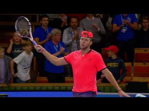 If Stockholm Open match point Sock v Zverev