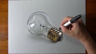 getlinkyoutube.com-How to draw a realistic lightbulb 2