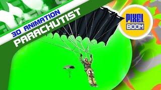 getlinkyoutube.com-Green Screen Paratroops Military Parachutist War - Footage PixelBoom