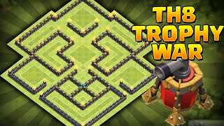 getlinkyoutube.com-Clash of Clans - *NEW*  Air Sweeper! Best Townhall 8 (TH8) Trophy/Clan Wars BASE! Air Sweeper!