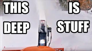 getlinkyoutube.com-Kubota BX Blowing Deep Snow Ride-Along