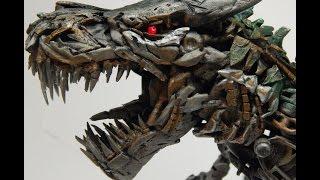 getlinkyoutube.com-Transformers Screen Accurate Custom Leader Grimlock Transformation Review