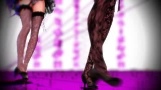 getlinkyoutube.com-Beautiful Luka and Miku dance MMD